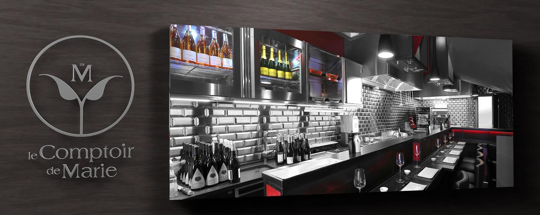 photos le comptoir de marie restaurant flavors of the world mons. Black Bedroom Furniture Sets. Home Design Ideas
